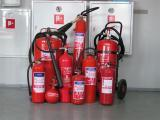 Fire extinguishers: powder, carbon dioxide, water foam, automatic
